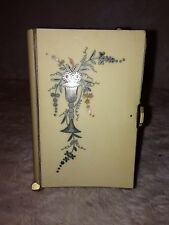 Antique French First Communion Ivory celluloid Bible Dated 1888