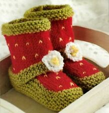 Knitting Pattern Baby Bootees Cute Shoe Design