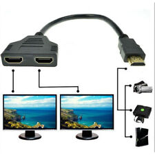 1x 1080P HDMI Port Male to 2Female 1 In 2 Out Splitter Cable Adapter Converter