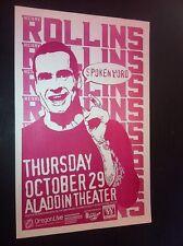 Henry Rollins Black Flag Rare Original 1998 Punk Flyer Concert Tour Gig Poster