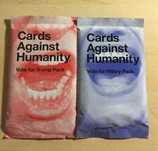 Cards Against Humanity Hillary Trump Packs Set Limited Run 2016 Presidential