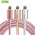1M 2M 3M Metal Braided 2A Lightning USB Charger Cable For iPhone 5 5S 6 6s Plus