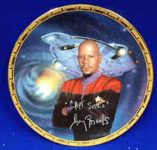 Star Trek Power of Command Sisko/Defiant Plate-Signed by Avery Brooks (LH-095)
