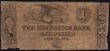 1854 THE MECHANICS BANK, AUGUSTA  ONE DOLLAR BANKNOTE