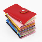 Unisex Pu Leather Pocket Business Credit ID Card Holder Wallet for 24 Cards J3