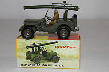 1960's French Dinky #829 Jeep with Mounted Cannon, Nice with Original Box, Lot 5