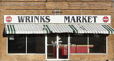 #163 HO scale background building flat  WRINKS MARKET   FREE SHIPPING