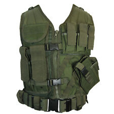 Gilet TACTIQUE VERT OLIVE-Assaut combat armée airsoft molle attachement rig top