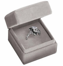 Avon - Sterling Silver Genuine Sapphire Ring in Gift Box - size 7 - NEW - LQQK