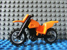 Lego Orange Mini Crosser Off Road Motor Cycle Bike Moto GP Mini Figure