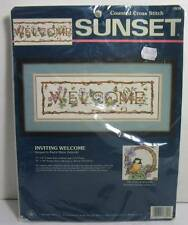 "SUNSET "" Inviting Welcome""  Counted Cross Stitch Kit Sealed"