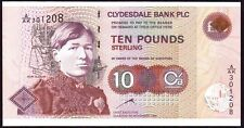 1998 CLYDESDALE BANK PLC £10 BANKNOTE * A/AK 301208 * FIRST * UNC *
