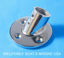 "Boat Hand Rail Fittings- 60 Deg 7/8"" Round Stanchion Base Marine Stainless Steel"