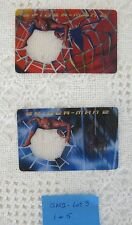 2004 Spider-Man 2 The Movie Lenticular Decoder Cards Lunchables #1 and #5 -Lot 3