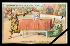 French Victorian Trade Card: Liebig - Farces De Clowns Early 1900's