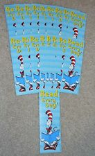 "Lot of 18 Dr Seuss Cat in the Hat ""Read Every Day!"" Bookmarks school teachers"