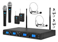 New Pyle PDWM4350U UHF Wireless Microphones System Handheld/Lavalier/Headset
