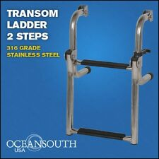 Transom Ladder Stainless Steel folding 2 Steps