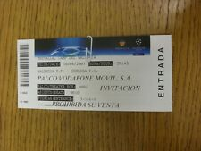10/04/2007 Ticket: Valencia v Chelsea [Champions League] . Thanks for viewing th