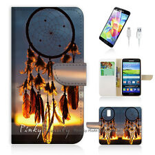 Samsung Galaxy S5 Print Flip Wallet Case Cover! Dream Catcher P0115