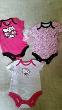 NWT BABY GIRLS SZ 6-9m SANRIO HELLO KITTY ONESIES,SET OF THREE