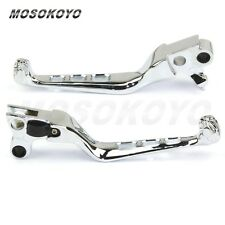 CNC Chrome Motorcycle Skull Brake Clutch Hand Levers For Harley FLSTSB FXSTD XL