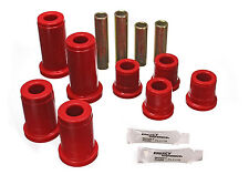 Energy Suspension 88-98 Chevy 4WD C/K Trucks Front Control Arm Bushings (Red)