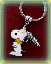 Peanut's SNOOPY the Dog and WOODSTOCK w/ Feather KEYCHAIN Jewelry  Charlie Brown