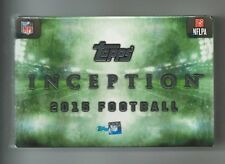 2015 Topps Inception Football Hobby Box Factory Sealed