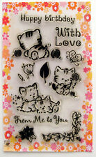 Cute animals ~ Kittens playing ~ clear stamps set vintage FLONZ 130 rubber acryl