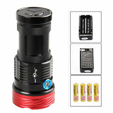 SKYRAY Rechargeable 18000LM 9xCREE XML T6 LED Tactical Flashlight Torch 4x18650