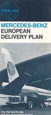 1967 Mercedes Benz European Delivery & Pan Am Brochure mw6878-G32PBG