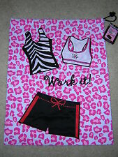 NWT WORK IT! Workout Clothes / Lingerie / Wet Bikini Drawstring Tote Laundry Bag