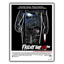 Friday The 13th-Metallo Segno Piastra a Parete Pellicola Film Cinema STAMPA POSTER Pubblicità