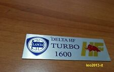 Lancia delta 1600 hf turbo integrale evoluzione badge stemma targhetta tunnel