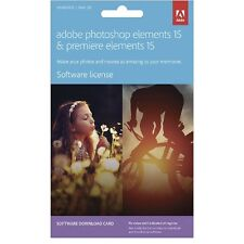 Photoshop Elements 15 & Premiere Elements 15 Software Download Card- Mac/Windows