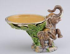 Elephant Plate  by Keren Kopal Austrian Crystal Jewelry box Faberge