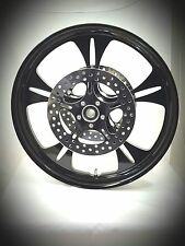 23 x 3.75 HARLEY DAVIDSON ROAD GLIDE GLOSS BLACK REAPER WHEEL With ABS & ROTORS
