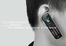 Smallest Mini Thumb Mobile Cell Phone Headset Bluetooth GSM Car Earphone Dialer