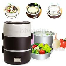 1.6L 3 layer Portable Electric Lunch Box Mini Rice Cooker Stainless Steamer Pot