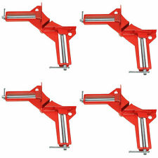 """4pcs 90 Degree Right Angle Miter Corner Clamp 3"""" Capacity Picture Frame Jig Red"""