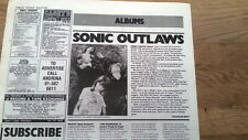 SONIC YOUTH Sister album review 1987 UK ARTICLE / clipping