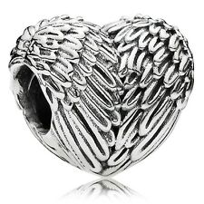 AUTHENTIC PANDORA STERLING SILVER BEAD ANGELIC FEATHERS CHARM 791751