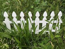 4x Border Edging Fence. Lawn Border Fence. Garden grass driveway picket Straight