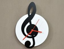 Music Sol Key Black & White - Wall Clock