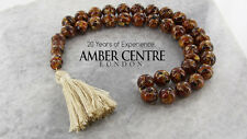 GENUINE BALTIC RECONSTRUCTED AMBER WORRY BEADS- AW0070  RRP£380