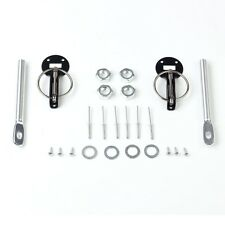 Universal Alloy Mount Bonnet Hood Pin Pins Lock Latch Kit Racing Sport Car Black