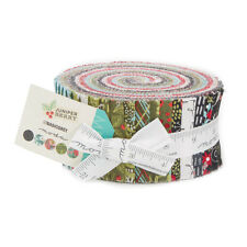"40-2.5"" STRIPS~JUNIPER BERRY~MODA FABRIC~JELLY ROLL~BASICGREY~CHRISTMAS"