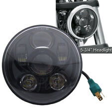 5.75 5 3/4 LED Headlight Daymaker Black Projector DRL For Harley  Dyna Sportster