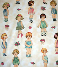 Windham AUNT LINDY'S LARGE PAPER DOLL FABRIC + DOLLS' CLOTHES & TOYS S.Marquez